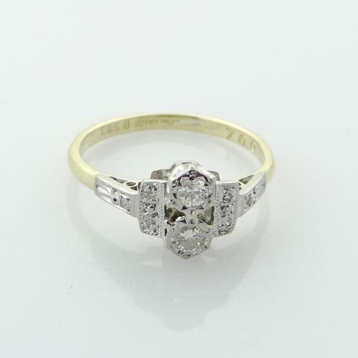 Art Deco Diamond Ring c1940