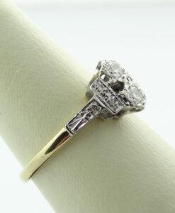Antique 18ct Gold Diamond Ring c1940