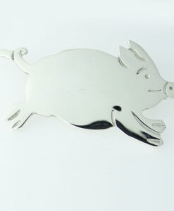 Running Pig Brooch