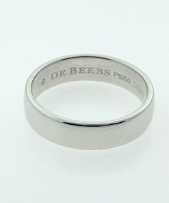 PLATINUM WEDDING BAND 5MM by De Beers