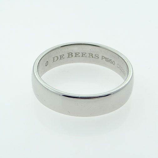 PLATINUM WEDDING BAND 5MM by De Beers