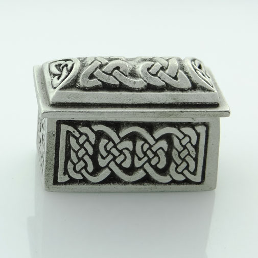 Pewter Celtic Design Rectangular Wee Box by Wee Boxes