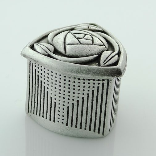 Pewter Three Sided Mackintosh Wee Box by Wee Boxes