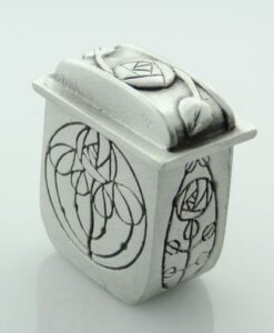 Pewter Tall Mackintosh Wee Box by Wee Boxes
