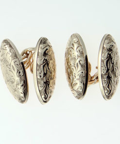 9ct Rose Gold Cufflinks Hallmarked Chester 1905