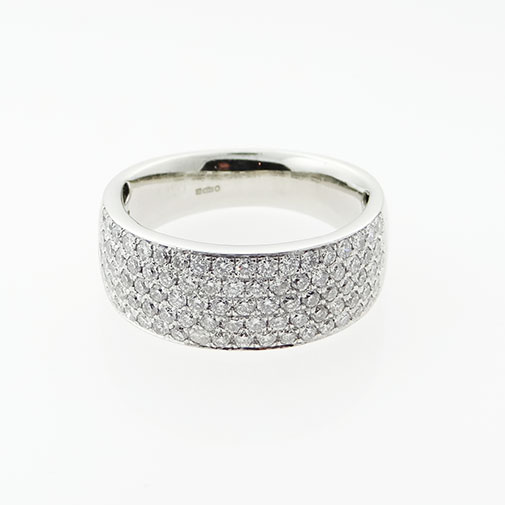 Platinum 1.00ct Diamond Cluster Ring
