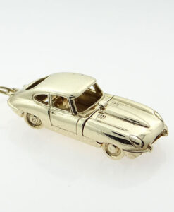 Gold Opening E-TYPE Jaguar Car Charm