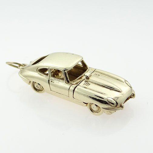 Gold Opening E-TYPE Jaguar Car Charm