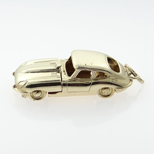 Vintage 9ct Gold E-TYPE Jaguar Car Charm