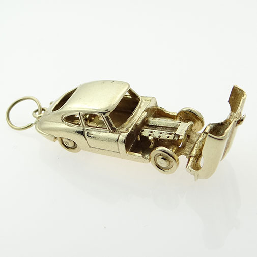 Vintage 9ct Gold Opening E-TYPE Jaguar Car Charm