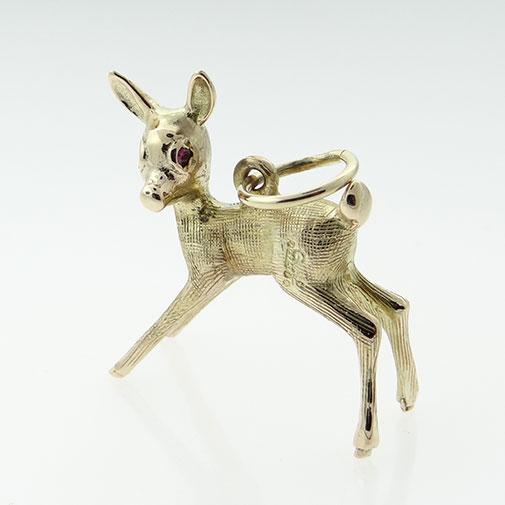 Gold Deer Charm