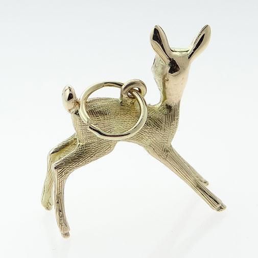 9ct Gold Deer Charm