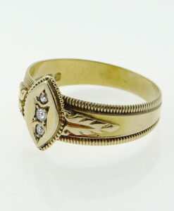 Gold Diamond Ring Birmingham 1897