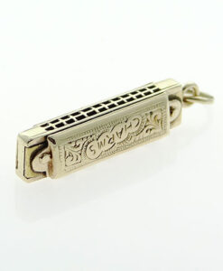 Gold Harmonica Charm - Sheffield 1975