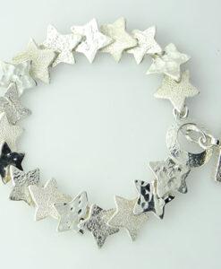 Silver Shining Star Bracelet