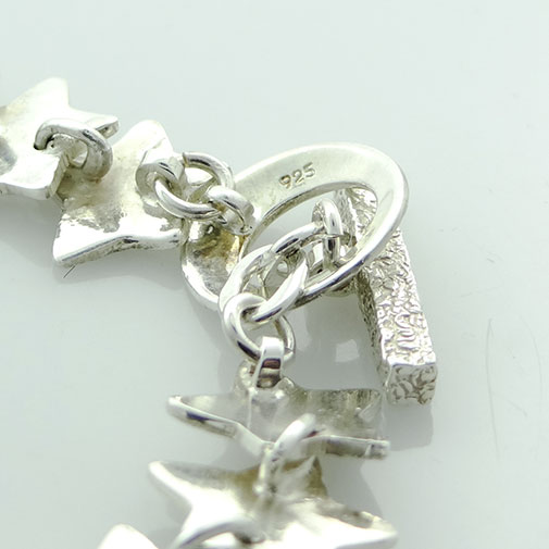 Sterling Silver Shining Star Bracelet