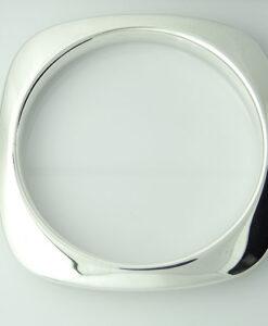 Tiffany & Co Sterling Silver Square Cushion bangle