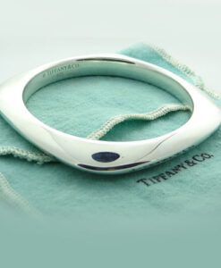 Tiffany & Co Sterling Silver Square Cushion bangle