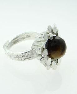 Tigers Eye Modernist Ring