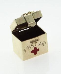 Vintage 9ct gold Georg Jensen First Aid Charm