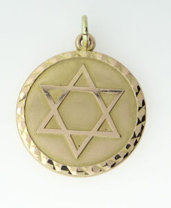 Gold Star Of David Israel Pendant by Georg Jensen