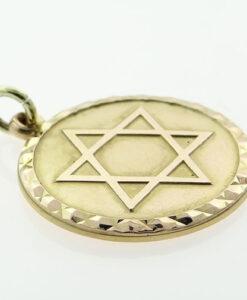 9ct Gold Star Of David Israel Pendant by Georg Jensen