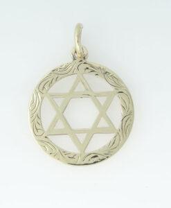 Vintage 9ct Gold Star Of David Pendant