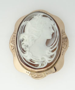 9ct Rose Gold cameo brooch