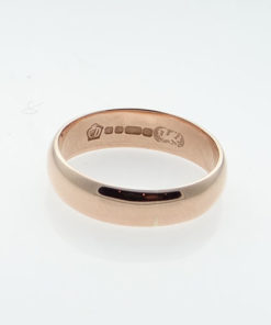 Vintage GLOGAU 9ct Rose Gold Wedding Ring