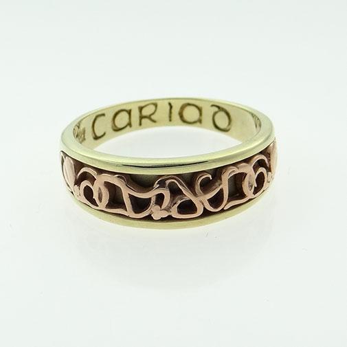 9ct Gold Cariad Clogau Band Ring