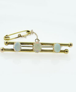 Antique 15ct Gold Opal Brooch