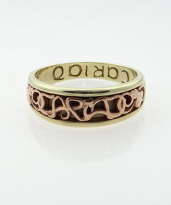 Gold Cariad Clogau Band Ring