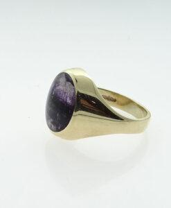 9ct Gold Blue John Signet Ring