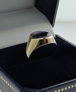 9ct Gold Blue John Stone Signet Ring