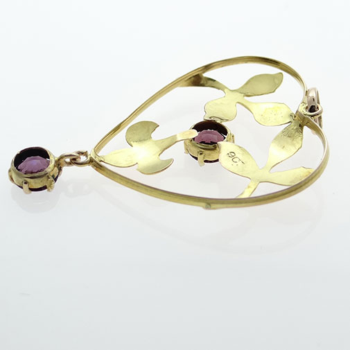 Antique 9ct Rose Gold Amethyst Pendant