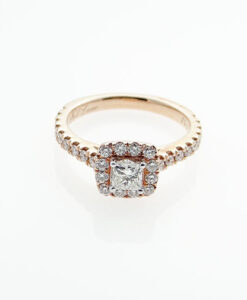 Neil Lane 14ct Rose Gold 0.75ct Diamond Halo Ring