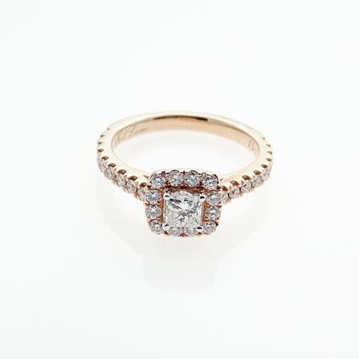 Neil Lane 14ct Rose Gold 0.75ct Diamond Halo Ring