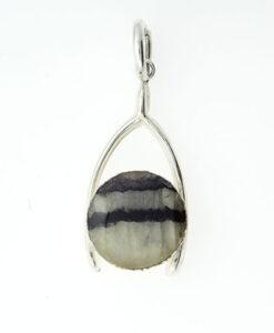 Sterling Silver Blue John Wishbone Pendant