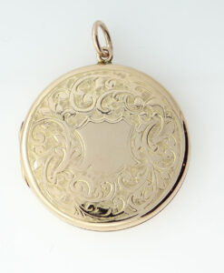 Antique 9ct Rose Gold Back and Front Round Locket