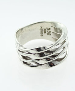 sterling silver wave ring by Dominique Dinouart