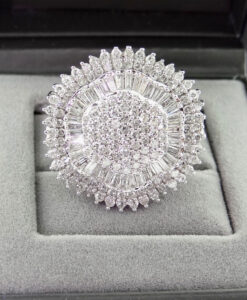 Diamond Cluster Statement Ring