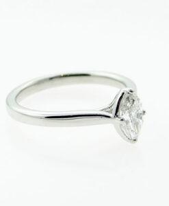 Platinum Marquise Daimond Solitaire Engagement Ring 0.53ct