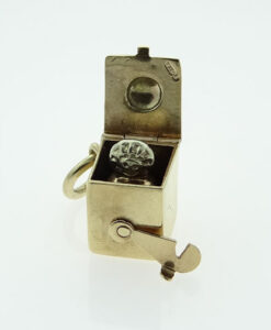 Vintage Gold Jack in the Box Charm