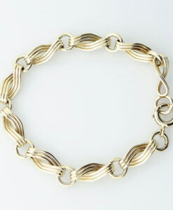 9ct Gold Infinity Link Bracelet