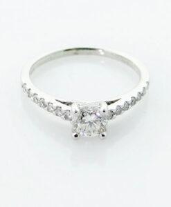 Platinum Brilliant Cut Diamond Solitaire Ring 0.75 Carat
