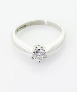 Platinum Brilliant Cut Diamond Solitaire Ring 0.50 Carat