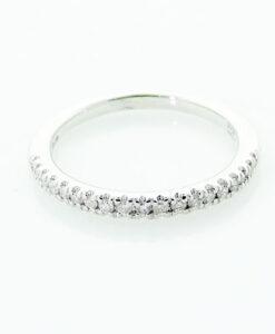 Platinum Diamond Half Eternity Band Ring 0.15 carat