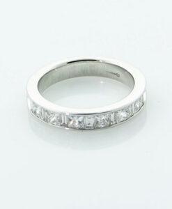 18ct White Gold Diamond Half Eternity Ring 1.00 carat