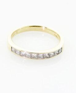 9ct Gold Canadian Ice Diamond Half Eternity Ring 0.50 carat