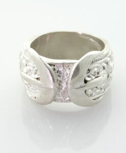 Sterling Silver Buckle Ring 13.2g